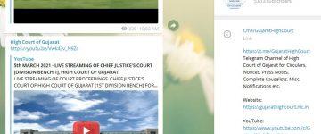 Gujarat High Court Telegram Channel for High Court Advocates, Litigants & other stake holders